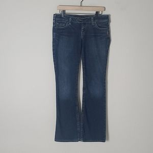 """Silver """"Tuesday"""" Lowrise Bootcut Jeans Size 30"""